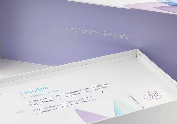 Engagement ring packaging at Serendipity Diamonds