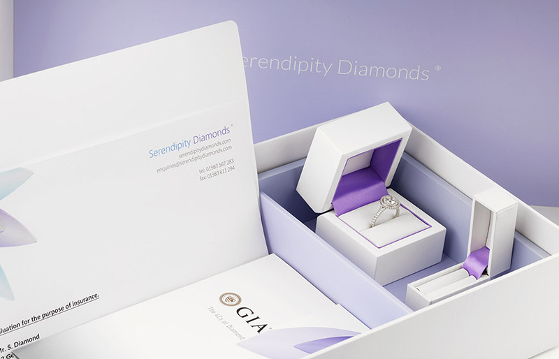 Engagement ring boxes, including pocket box for proposing - packaging at Serendipity Diamonds