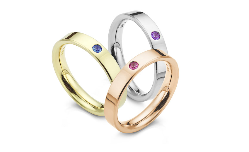 Adding birthstones to wedding rings