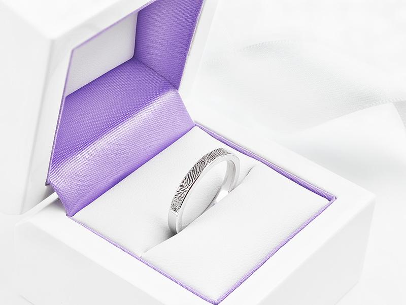 Memorial fingerprint ring