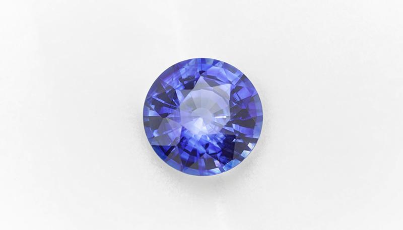 Medium blue sapphire round brilliant cut
