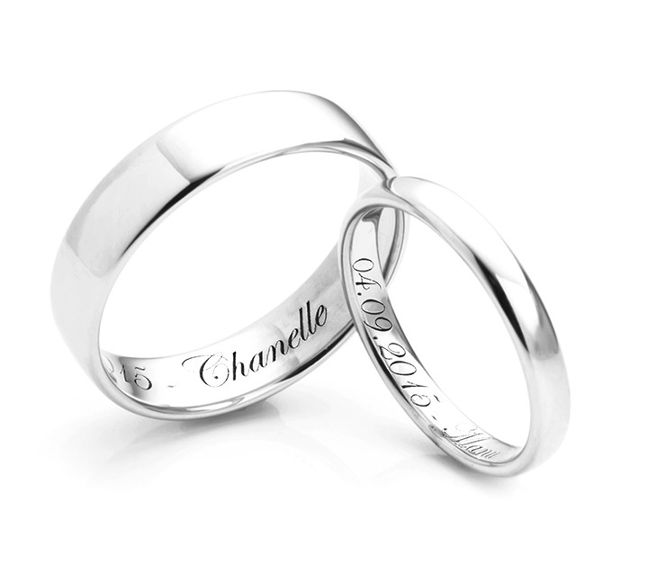 engraved custom listing her rings il his bands matching name personalized wedding