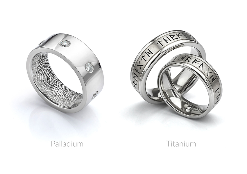 Palladium vs Titanium wedding rings
