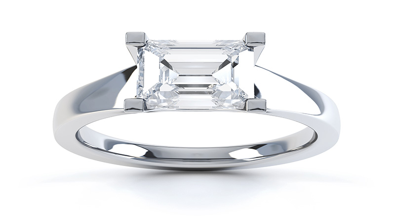 Ice emerald cut 2 carat engagement ring