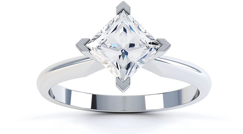 Ignis 2 carat princess cut diamond engagement ring