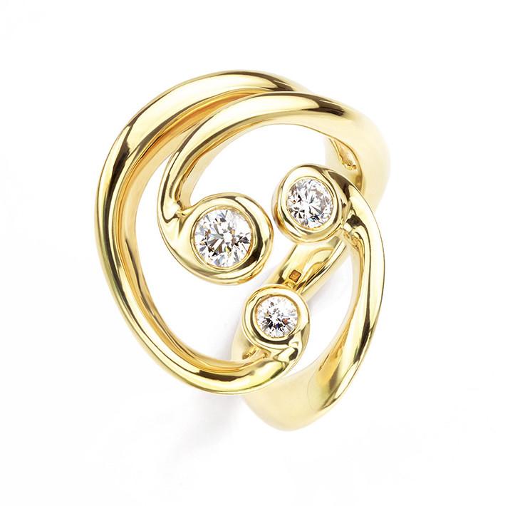 Ethically sourced Aurora Borealis Ring