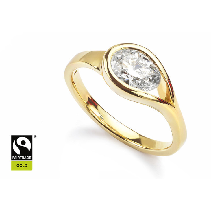 Bespoke fairtrade gold diamond ring