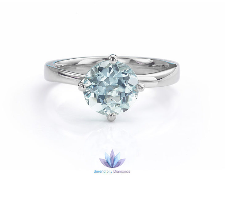 combining aquamarine and platinum for engagement rings - Aquamarine Wedding Rings