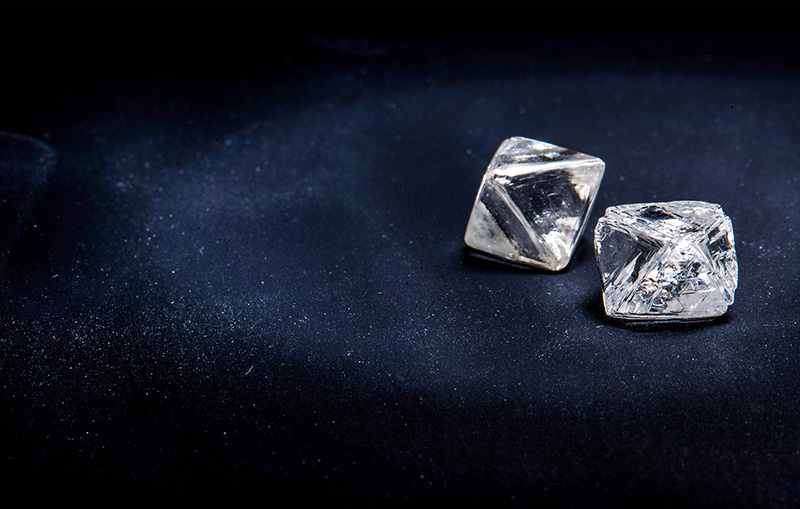 Ethical rough diamonds
