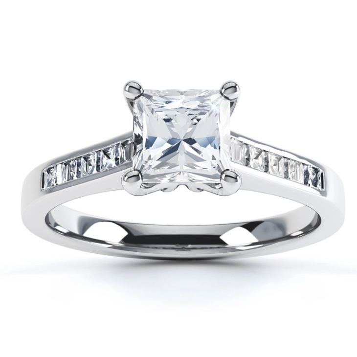 engagement rings with a diamond band - Most Popular Wedding Rings