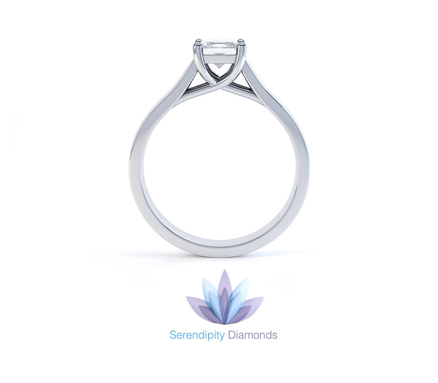Lucia engagement ring with trellis setting