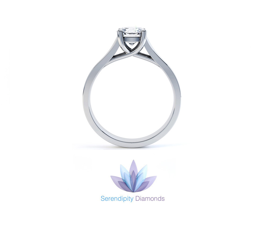 Pippa trellis style solitaire engagement ring