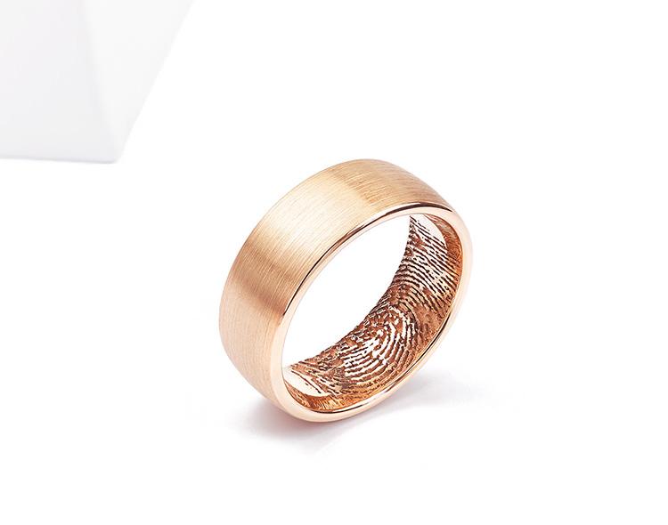 Fingerprint within wedding ring