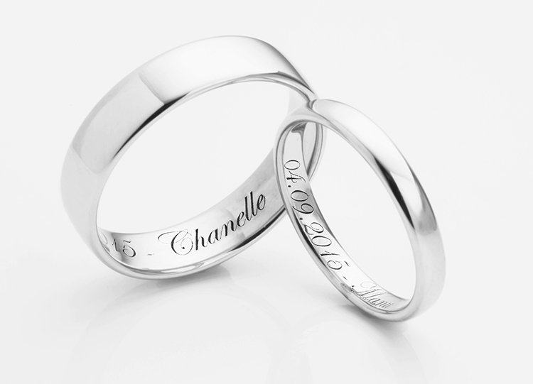 Script Wedding Rings Transcending Just Simple Plain
