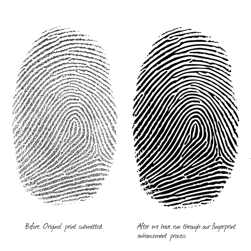 Fingerprint enhancement for wedding rings