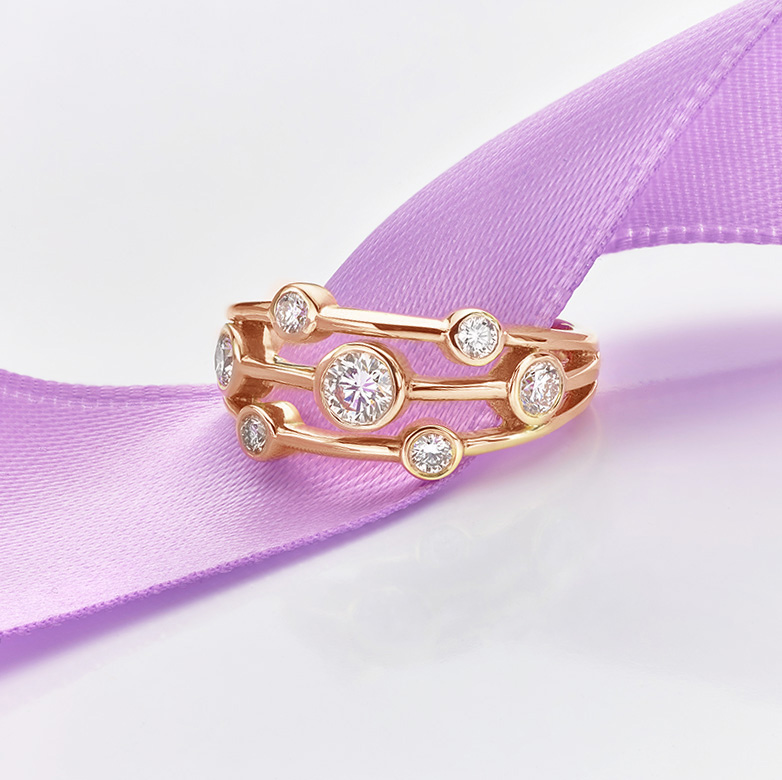 Raindrop Ring Rose Gold