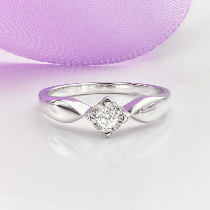 Illusion Setting Diamond Engagement Ring