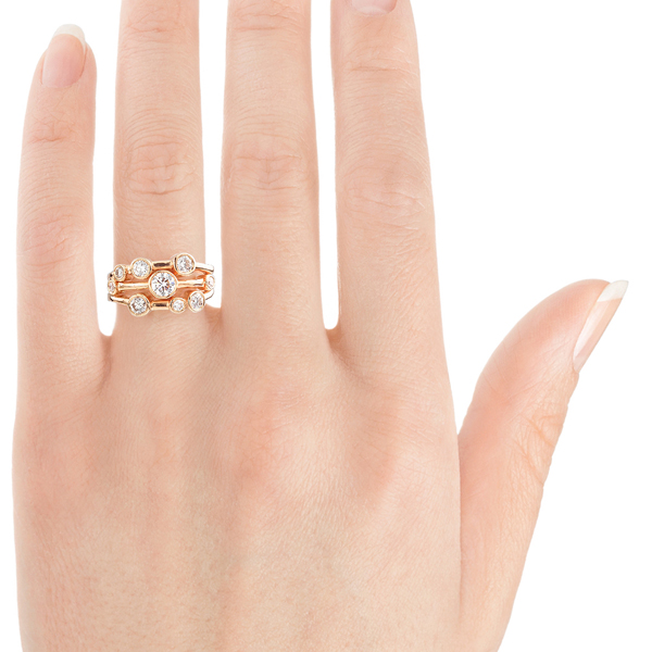Madison 1 carat bubble ring on finger