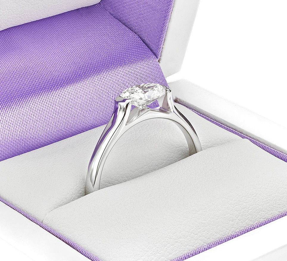Ursula Oval solitaire engagement ring