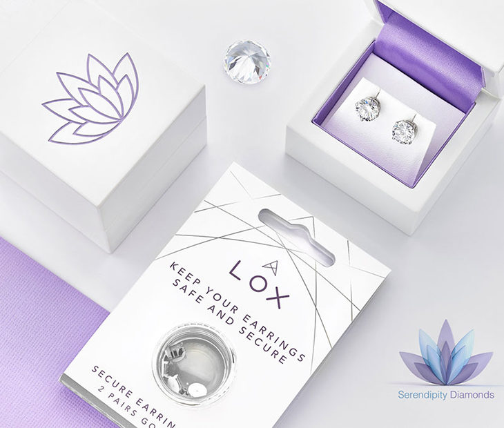 Lox secure replacement earring backs for lost earring backs