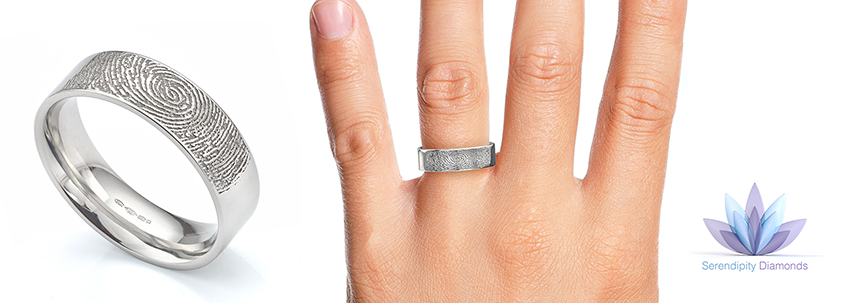 The popular fingerprint wedding ring