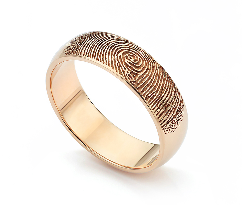 Trending wedding rings Rose Gold fingerprint wedding ring