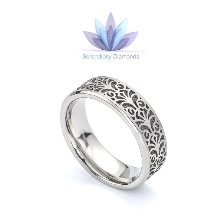 Baroque wedding ring