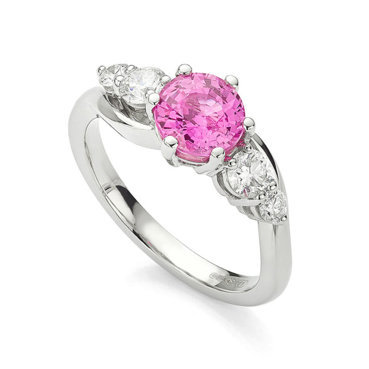 Super sized Tickled Pink Engagement Ring
