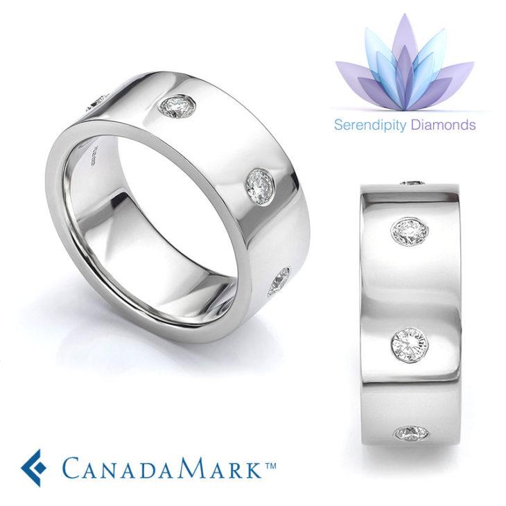 CanadaMark Diamond Wedding Rings
