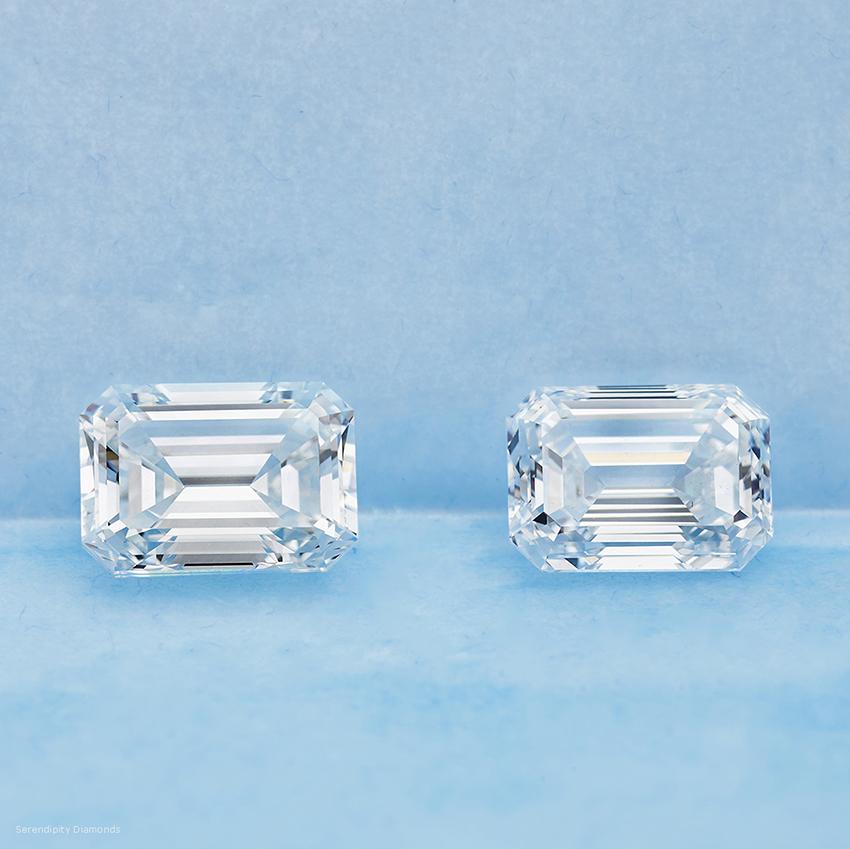 3 carat Emerald cut diamonds