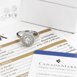 Cluster ring set with CanadaMark diamond