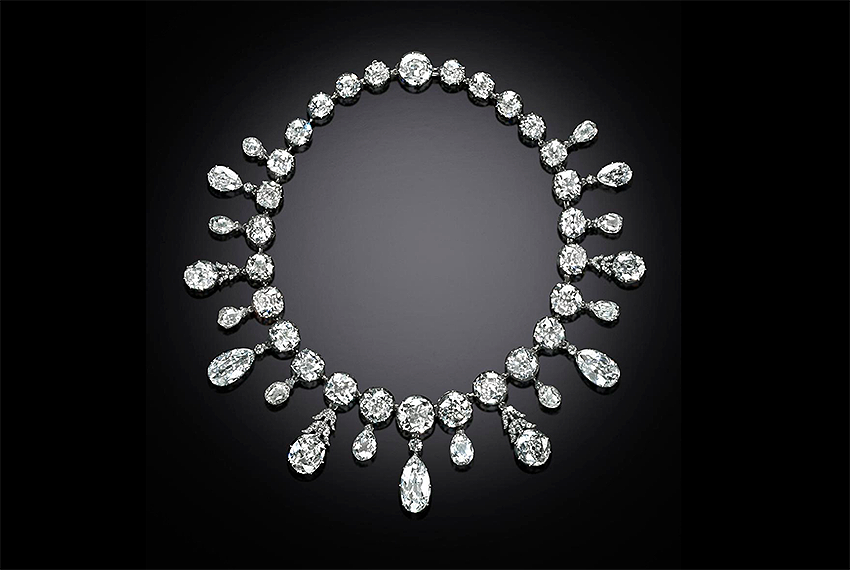 Example Briolette diamond necklace