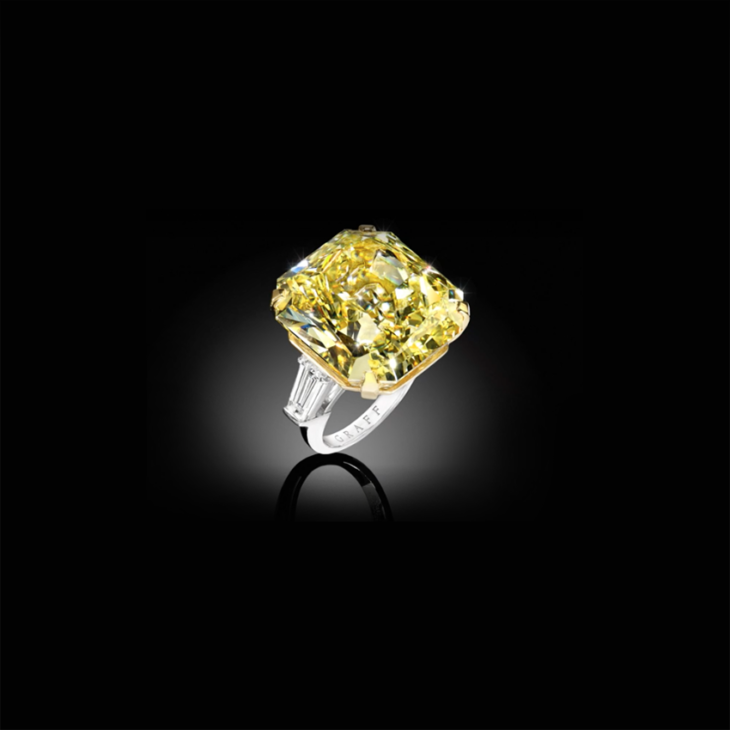 Fellows Sell Graff Yellow Moment Diamond Ring For 1 1 Million