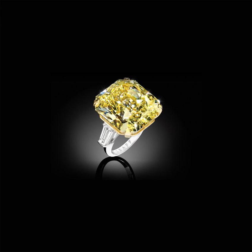 Fellows Sell Graff Yellow Moment Diamond Ring for 1.1 Million