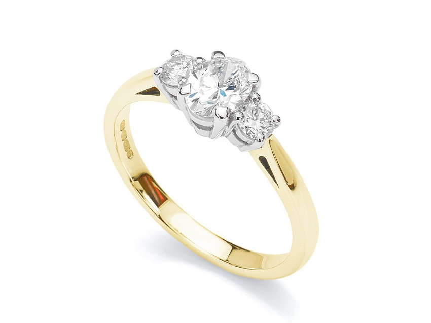 Meghan Markles engagement ring follows the graduated 3 stone engagement ring style of trilogy ring