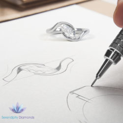 Canadamark diamond engagement ring sketch