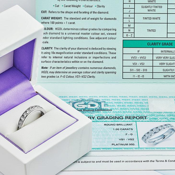 Certified diamond eternity ring