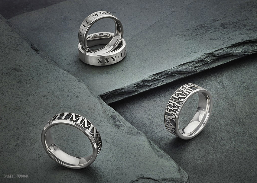 Durable Titanium wedding bands