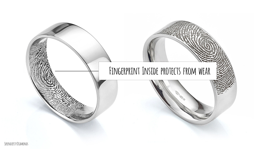fingerprint inside wedding ring - Pics Of Wedding Rings