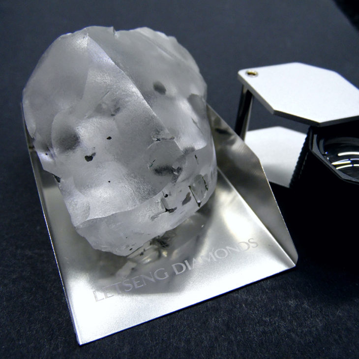 Gem Diamonds 910 Carat Diamond from Letseng mine