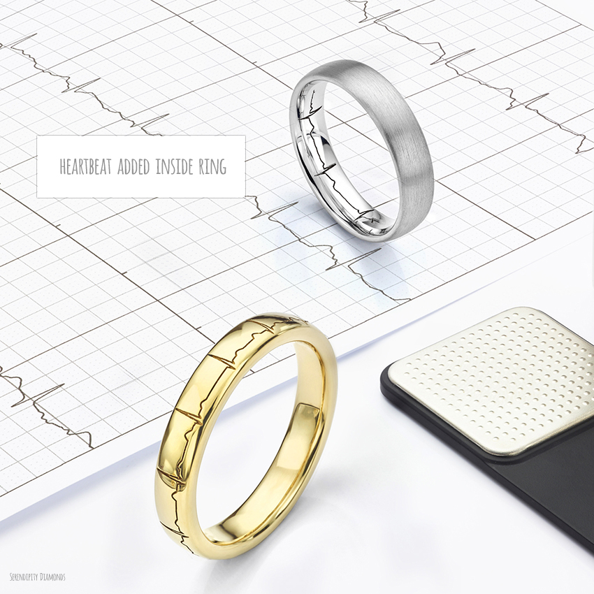Protect your engraving adding the detail inside your wedding band