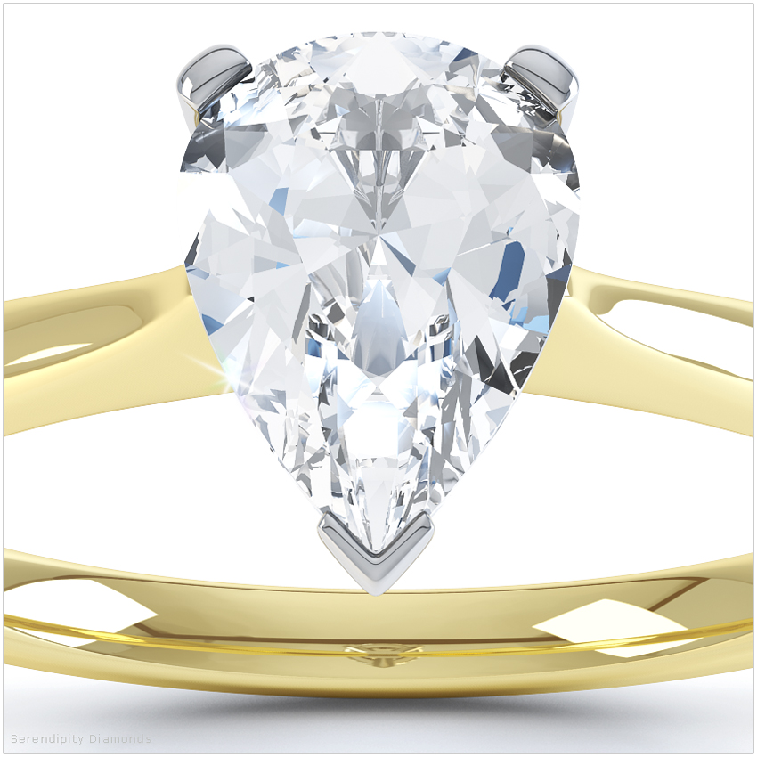 In Praise Of Yellow Gold Pear Shaped Engagement Rings