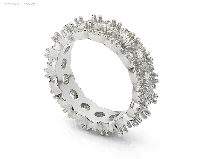 full diamond eternity ring mount