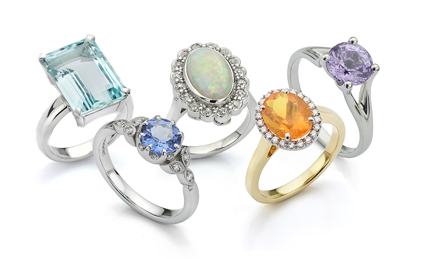 Coloured gemstone rings re-modelled or designed from scratch