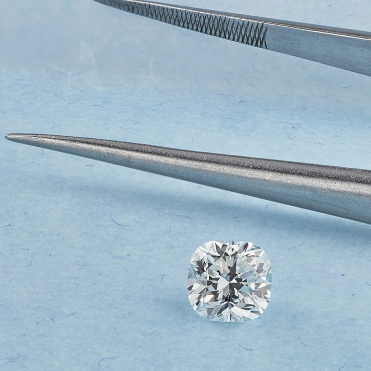 0.70ct Cushion cut diamond example