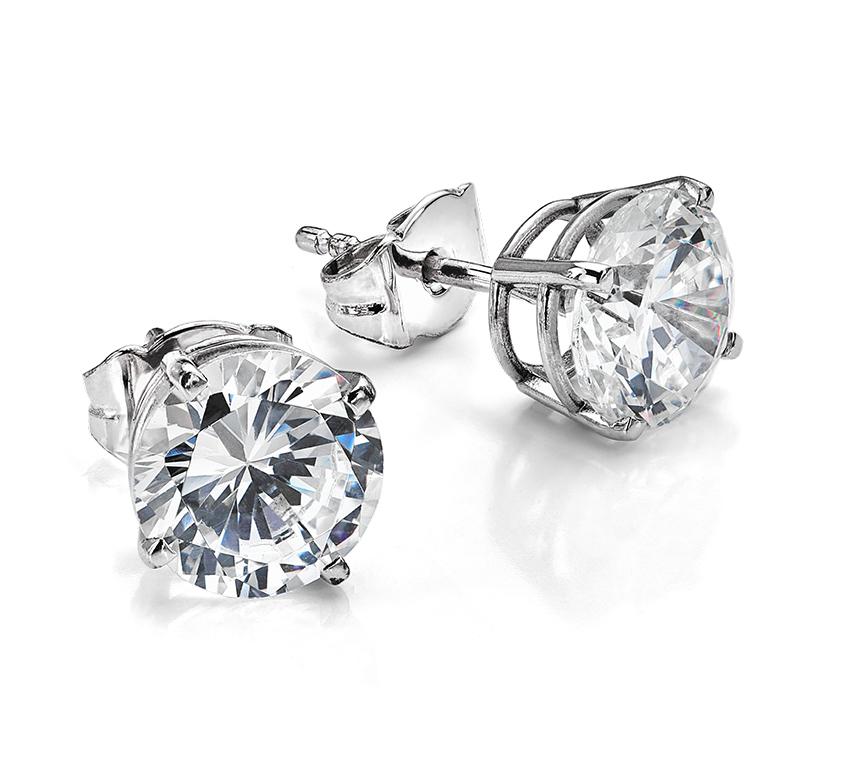 Supersized diamond earrings
