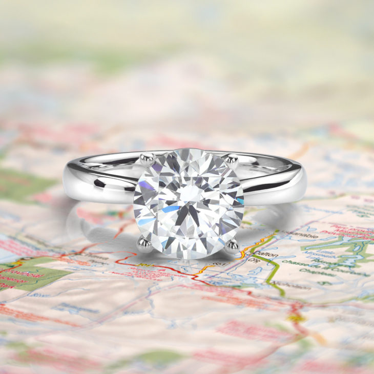 Replica engagement rings for travel