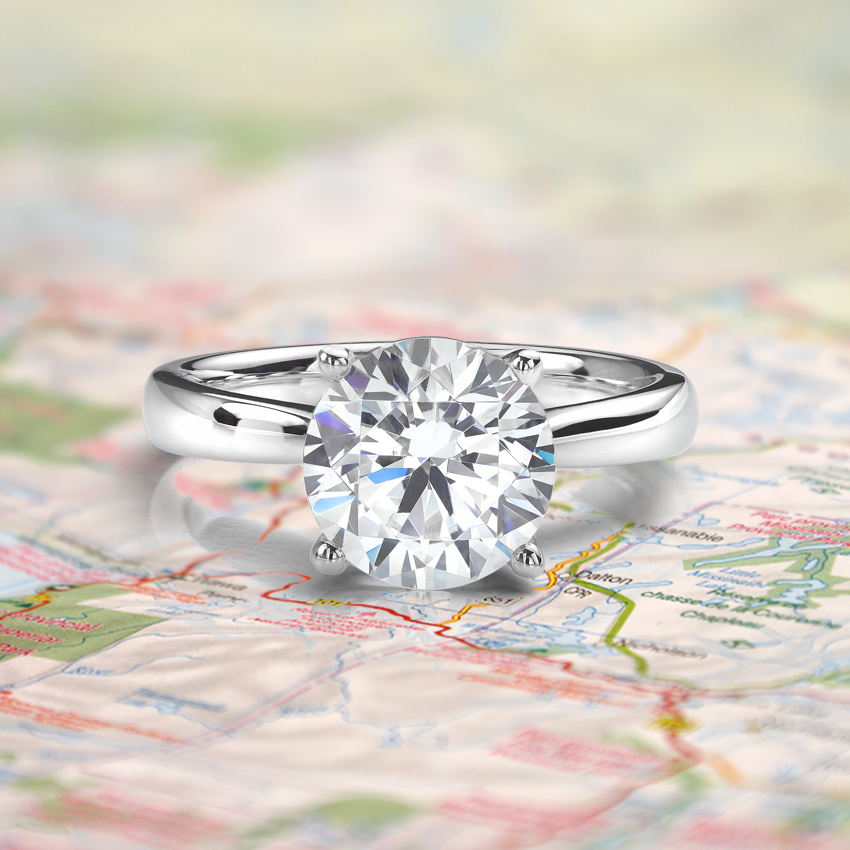 'Fake' Travel Engagement Rings