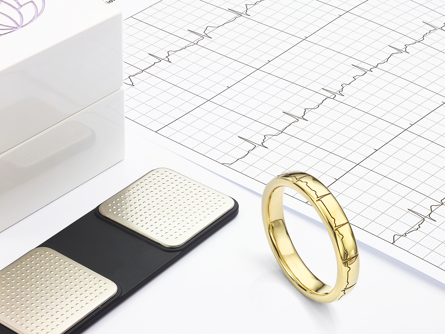 Heartbeat engraved wedding ring 5mm wide