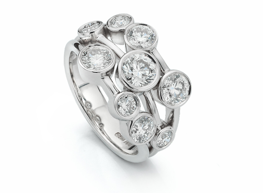 Bowery, one of our big diamond rings with over 2 carats of diamonds.